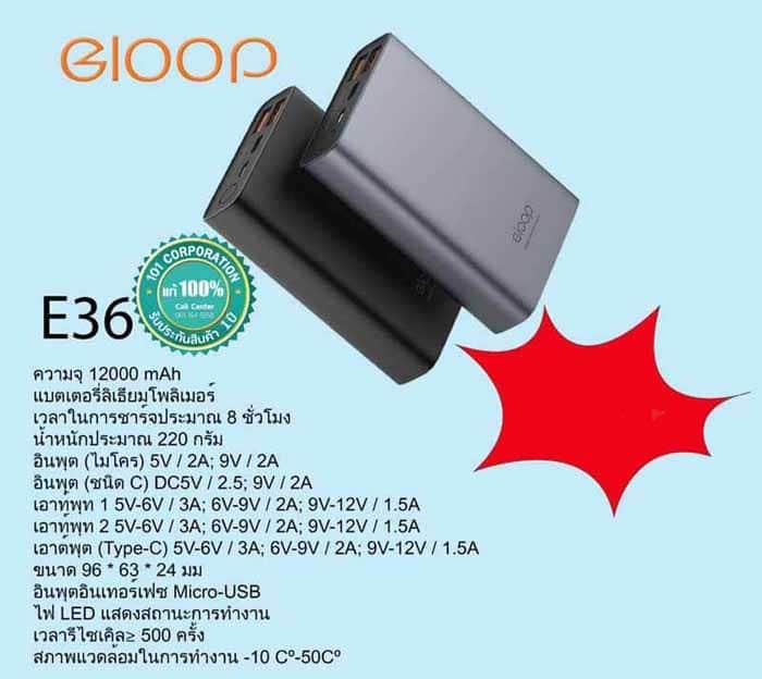 สเปก ELOOP E19